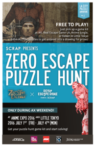 Zero Escape Puzzle Hunt